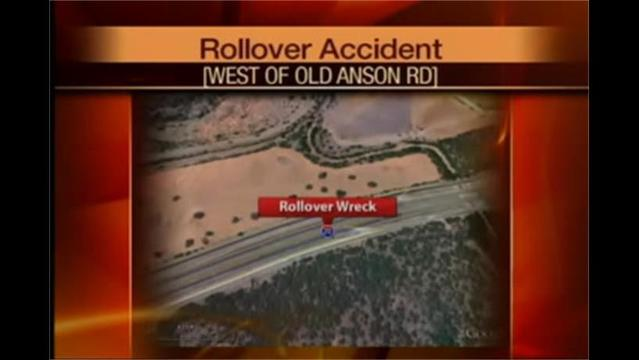 Anson Road Rollover Leaves Driver in Critical Condition