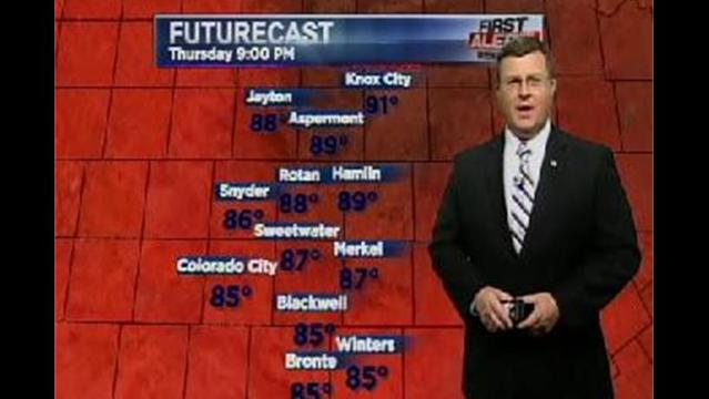 KRBC Western Big Country PM Forecast:  Thursday, July 11, 2013