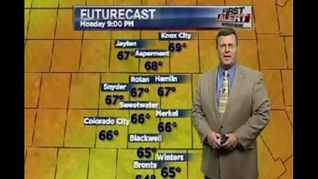 KRBC Eastern Big Country PM Forecast:  Monday, July 15, 2013