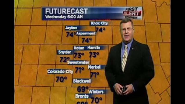 KRBC West Regional PM Forecast:  Tuesday, July 23, 2013
