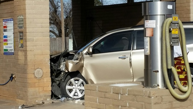 Vehicle Crashes into Car Wash During Driving Lesson Gone Wrong