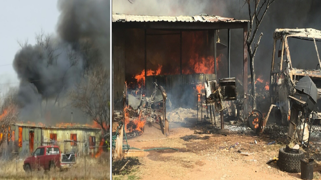 Fire Destroys Mobile Home in Fisher County