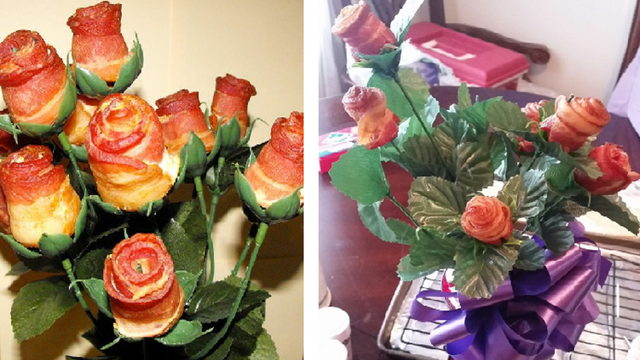 Abilene Bakery Makes Valentine's Bacon Bouquets