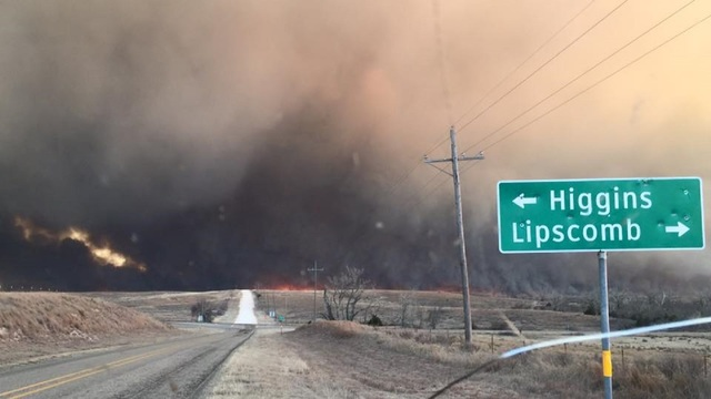 Smoke from Texas Wildfires Blowing into Big Country