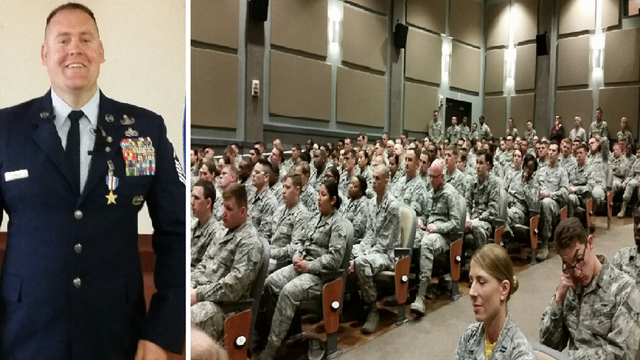 Retired Master Sergeant Receives Silver Star Medal During Dyess AFB Ceremony