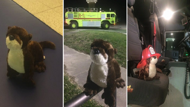 Stuffed Otter Abandoned at Abilene Airport, Firefighters Keep Him Safe