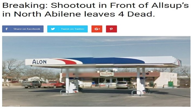 Fake News Circulating About Shootout in Abilene