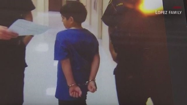Texas school police use handcuffs to restrain 7-year-old boy