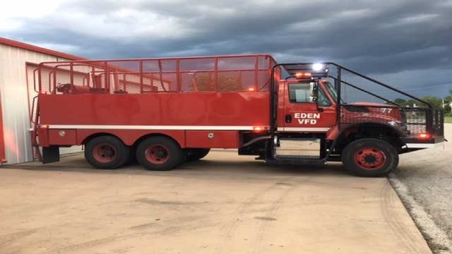 Eden Volunteer Fire Department Gets New Brush Truck Thanks to a $200,000 Grant