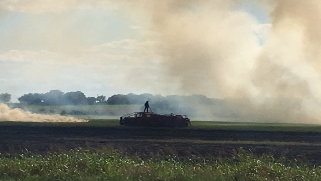 Grass Fire Burns Five Acres Before Being Put Out by Local Fire Departments