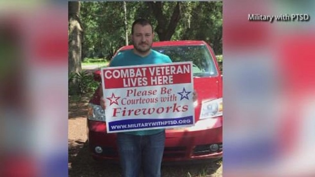Veterans with PTSD using new tools to cope with fireworks sensitivities