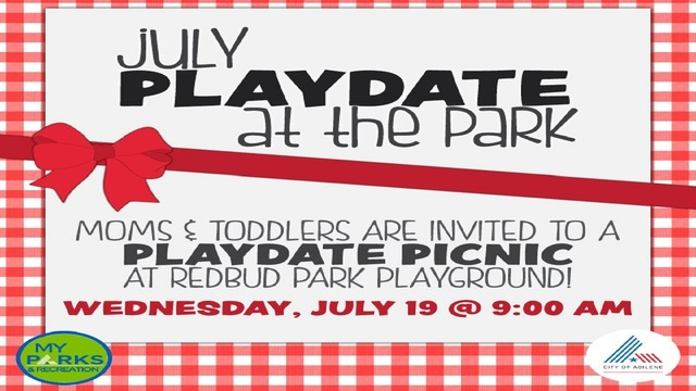 City of Abilene presents July playdate at the park