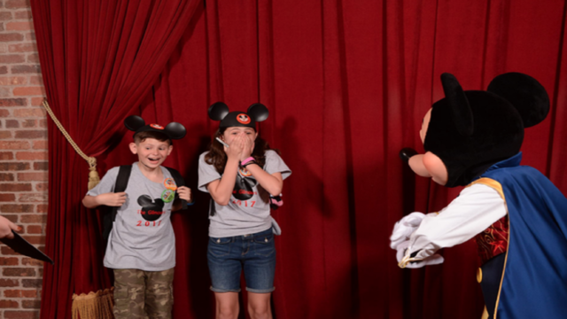 Surprise! Mickey spills beans to kids they're being adopted