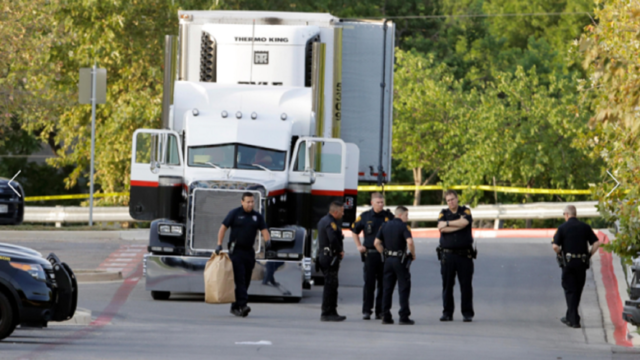 8 people found dead inside tractor-trailer in San Antonio