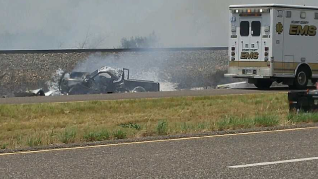 1 killed, 3 injured in fiery Scurry County crash