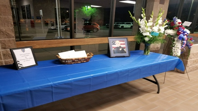 Law Enforcement Center in Abilene displays items in honor of Detective Ybarra
