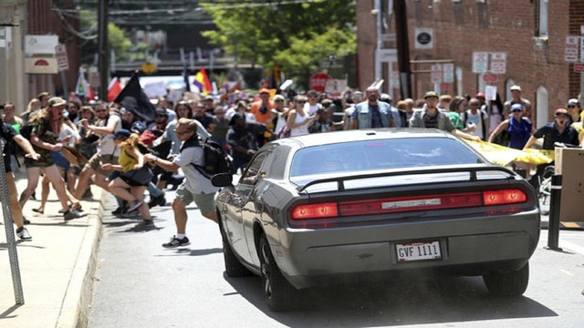 1 killed after car plows into protesters in Charlottesville