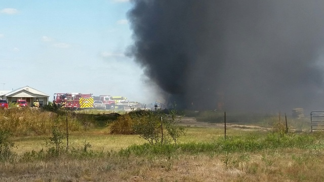 Several cars, at least 2 buildings completely destroyed in fire on Hwy 351
