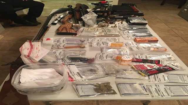 Coleman Police Department arrest 5, seize firearms and drugs