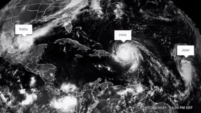 There are now three hurricanes in the Atlantic basin