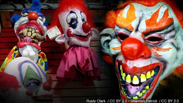 Man in clown mask chases daughter into armed stranger's apartment