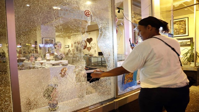 Protests turn violent for second night near St. Louis
