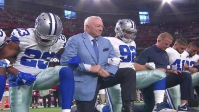 President Trump hints Cowboys players will stand for national anthem