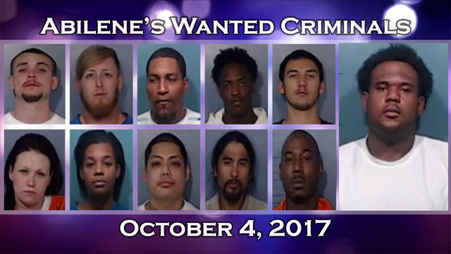 Abilene police offer cash rewards for info leading to capture of 11 wanted criminals