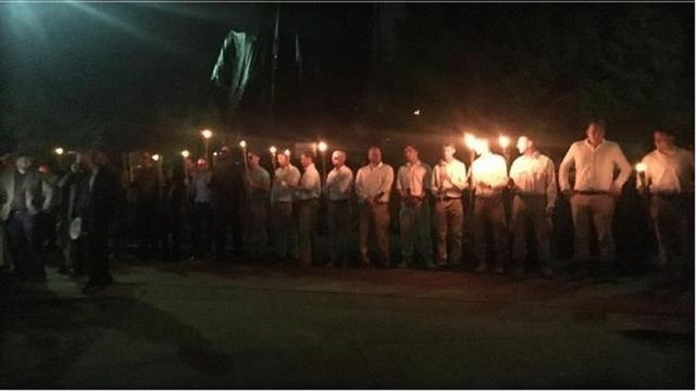 White nationalists hold another rally in Charlottesville