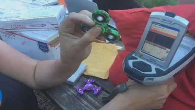 Fidget spinners with harmful lead counts for kids sold at Target