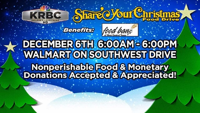 KRBC's 'Share Your Christmas' food drive taking place Wednesday