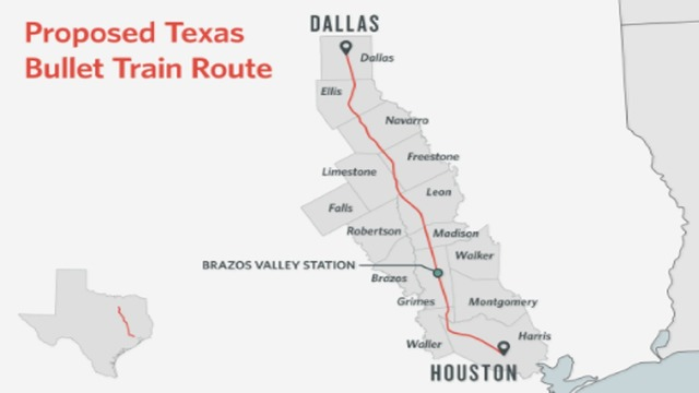 Some Texans dodge bullet train, others are square in its path