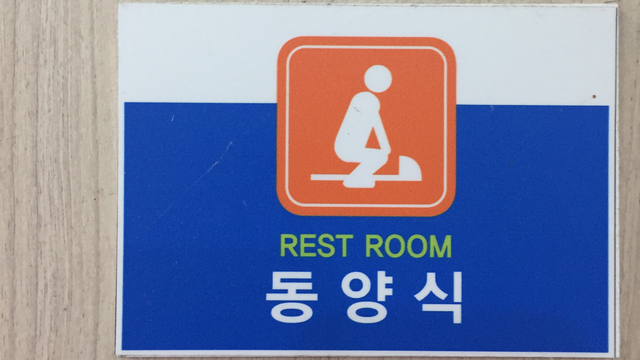 Stop, squat, and (possibly) bring your own roll in South Korea