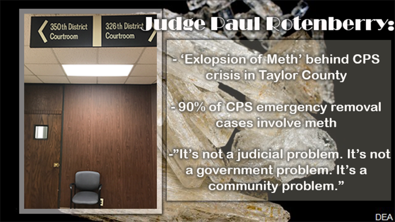 Taylor County Judge: 'Explosion of Meth' at the center of