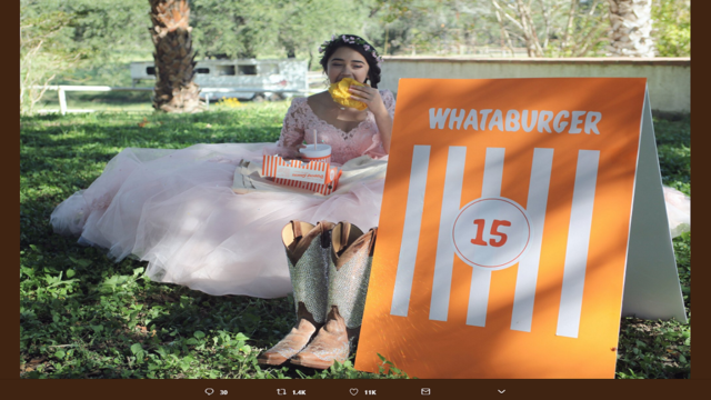 Only in Texas: What-a-burger themed quinceañera wins internet