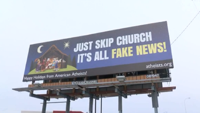 Church 'fake news' billboards expected in Texas