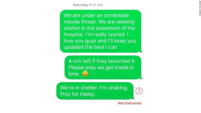 The texts loved ones sent during the Hawaii missile alert mishap