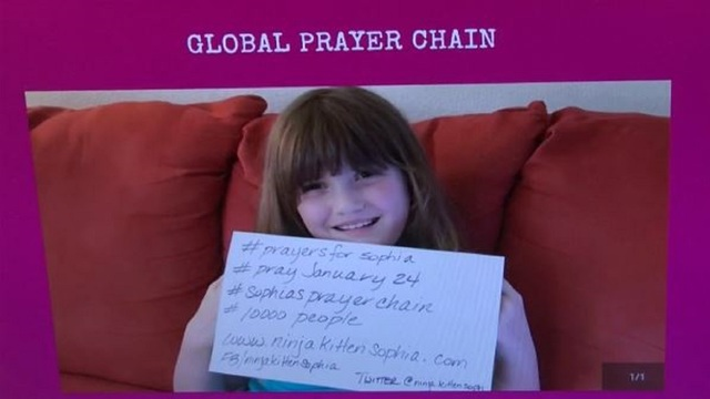 Texas girl asks for prayers on day of brain surgery