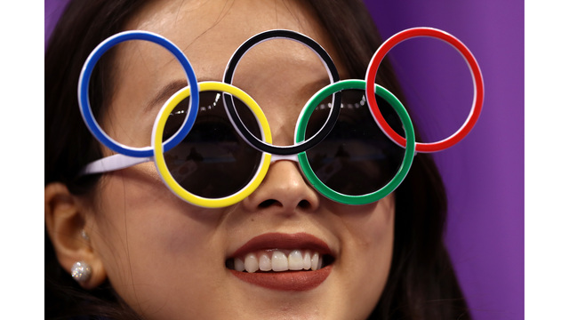 Olympic ring glasses