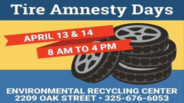 City of Abilene to hold Tire Amnesty Days April 13-14