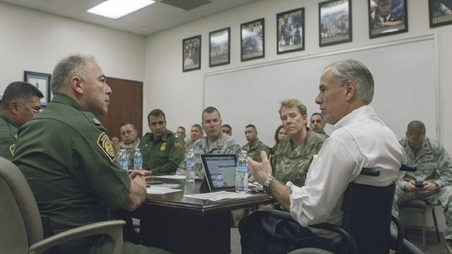 Governor Abbott Visits National Guard Troops Deployed To Border