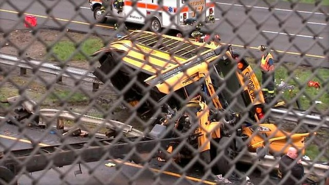 Multiple injuries reported after school bus, dump truck crash in Mount Olive, New Jersey
