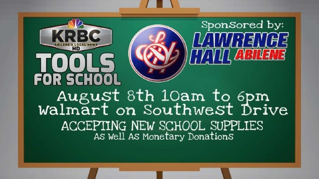 KRBC Tools for School 2018 kicks off Wednesday, August 8