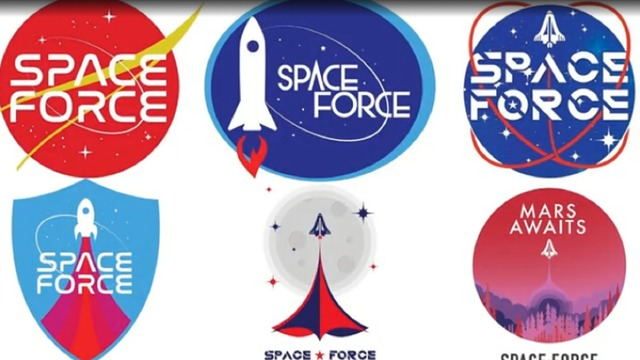 Pres. Trump's 2020 campaign asks supporters to vote on Space Force logo for new merchandise