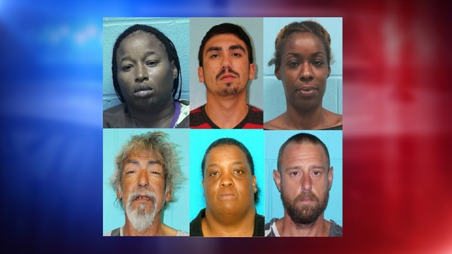 Six arrested in Nolan County drug roundup