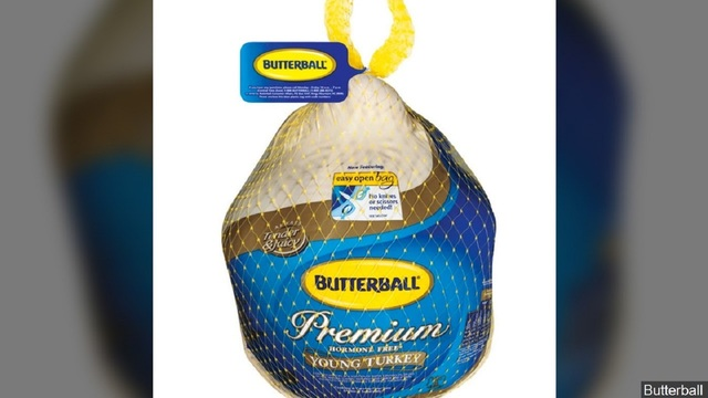 Butterball recalls 39 tons of turkey possibly contaminated with salmonella