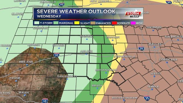 Next severe weather outlook is released Tuesday at 12:30 p.m. CT.