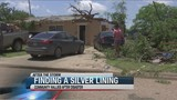 Cleanup volunteers help storm victims find silver linings